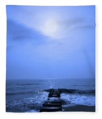 Blue Sunrise Fleece Blanket