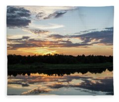 Blue Sunset 2 Fleece Blanket