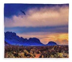 Blue Sunset Nm-az Fleece Blanket