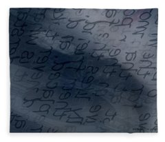 Blue Talk Fleece Blanket