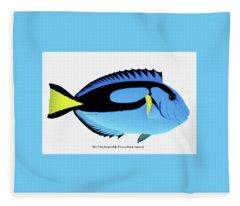 Blue Tang Fish Fleece Blanket