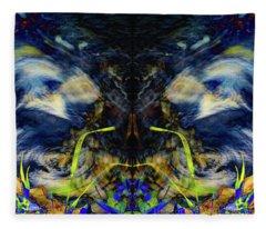 Blue Tigers Devil Fleece Blanket