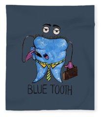 Blue Tooth Fleece Blanket