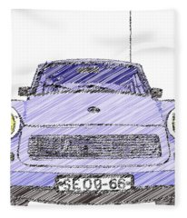 Blue Trabant Fleece Blanket