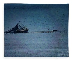 Blue Trawler 1 Fleece Blanket