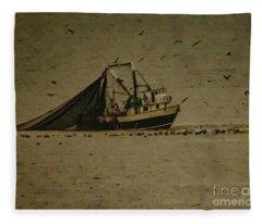 Blue Trawler 2 Fleece Blanket