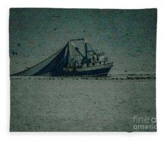 Blue Trawler 3 Fleece Blanket