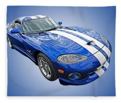 Blue Viper Fleece Blanket