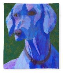 Blue Weimaraner Fleece Blanket