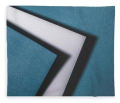 Blue White Blue Fleece Blanket