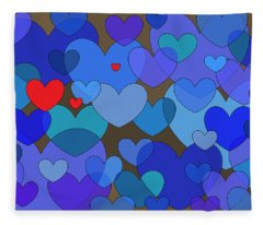 Blue Without You Fleece Blanket