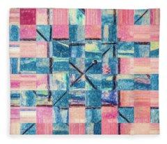 Blue Woven By Pink Fleece Blanket