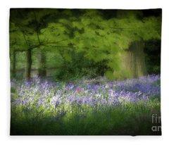 Bluebell Forest Fleece Blanket