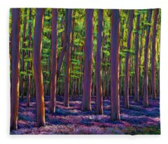 Bluebells And Forest Fleece Blanket