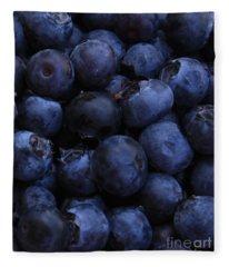 Blueberries Close-up - Vertical Fleece Blanket