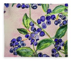 Blueberries Fleece Blanket
