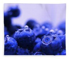 Blueberry Bubbles Fleece Blanket