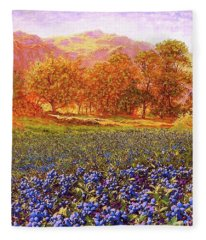 Blueberry Fields Fleece Blanket