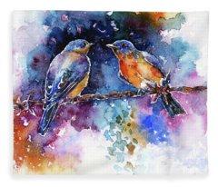 Bluebirds Fleece Blanket