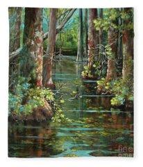 Bluebonnet Swamp Fleece Blanket