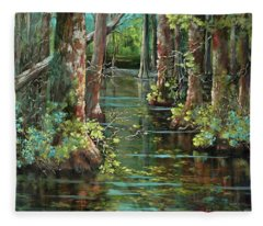 Bluebonnet Swamp Fleece Blanket