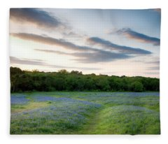 Bluebonnet Trail Ennis Texas 2015 V5 Fleece Blanket