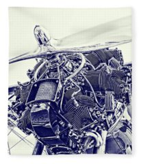 Radial Engine Fleece Blankets