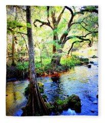 Blues In Florida Swamp Fleece Blanket