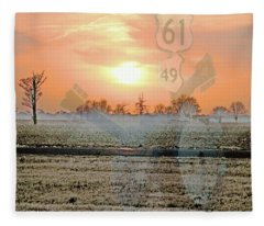 Blues Trail Fleece Blanket