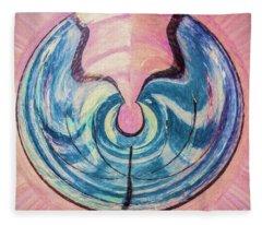 Blue Split By Pink Fleece Blanket