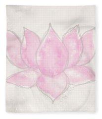 Blush Lotus- Art By Linda Woods Fleece Blanket
