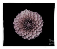 Blushing Dahlia  Fleece Blanket