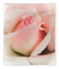 Blushing Petals Fleece Blanket