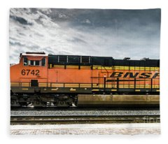 B N S F  Engine 6742 Fleece Blanket