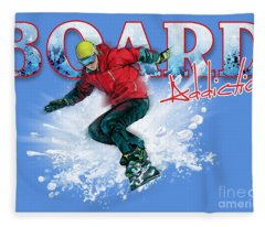 Board Addiction Fleece Blanket