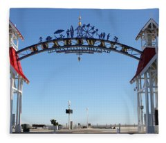 Boardwalk Arch At N Division St Fleece Blanket