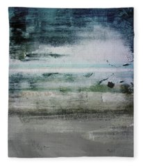 Boardwalk Blues 2- Art By Linda Woods Fleece Blanket
