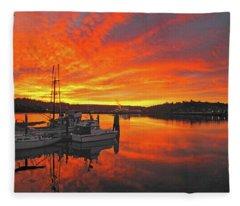 Boardwalk Brilliance With Fish Ring Fleece Blanket