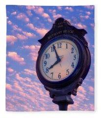 Boardwalk Clock Fleece Blanket