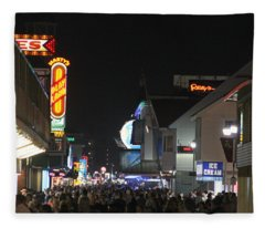 Boardwalk Night Lights Fleece Blanket