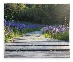 Boardwalk Through The Flowers Fleece Blanket