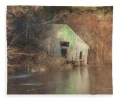 Boathouse On Solstice Fleece Blanket
