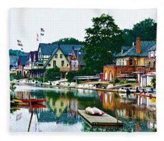 Boathouse Row In Philly Fleece Blanket
