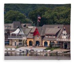 Boathouse Row Philadelphia Pa  Fleece Blanket