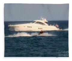 Boating And Jet Skiing  Fleece Blanket