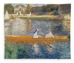 Boating On The Seine Fleece Blanket