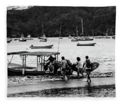 Boats And Boards  Fleece Blanket