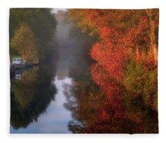 Boats And Channel Fleece Blanket