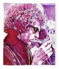 Bob Dylan Rock Music Fleece Blankets