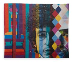 Bob Dylan Mural Minneapolis The Times They Are A Changin Fleece Blanket